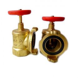 Клапан Ду-50 латунь угловой 90° КПАЛ-50 с ГМ-50